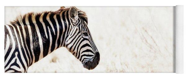 Closeup Zebra Horizontal Banner Yoga Mat