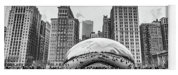 Cloud Gate Bw Yoga Mat