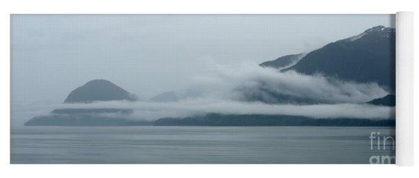 Cloud-wreathed Coastline Inside Passage Alaska Yoga Mat