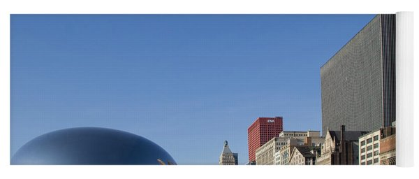 Cloudgate Reflects Michigan Avenue  Yoga Mat