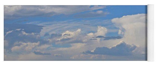 Clouds Aboive The Tree Farm Yoga Mat