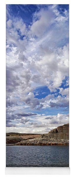 Clouds And Ripples Yoga Mat