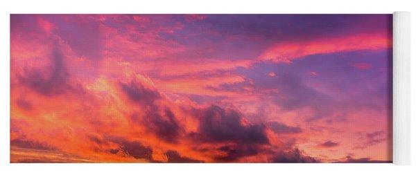 Clouds At Sunset Yoga Mat