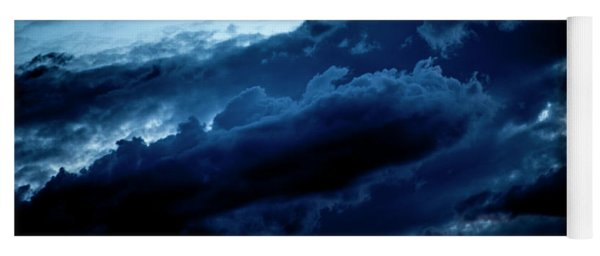 Yoga Mat featuring the photograph Clouds Fall by Eric Christopher Jackson