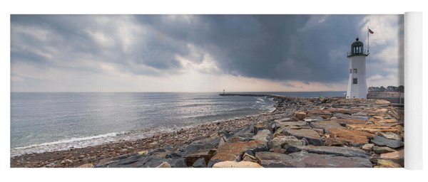Clouds Over Old Scituate Light Yoga Mat
