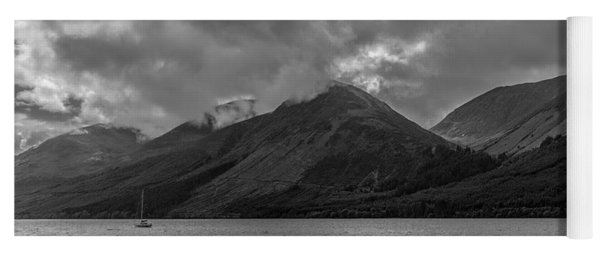 Clouds Over Loch Lochy, Scotland Yoga Mat