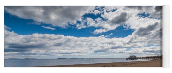 Cloudy Beach Day Yoga Mat