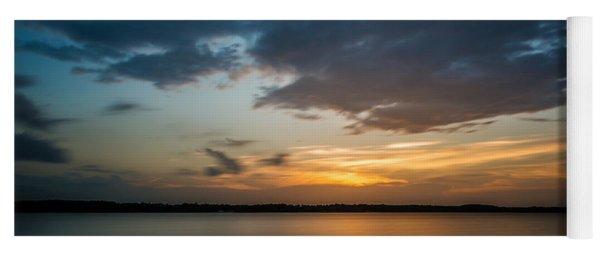 Cloudy Lake Sunset Yoga Mat