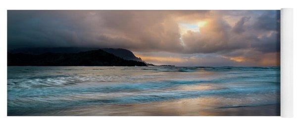 Cloudy Sunset At Hanalei Bay Yoga Mat