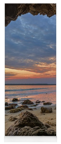 Cloudy Sunset At Low Tide Yoga Mat