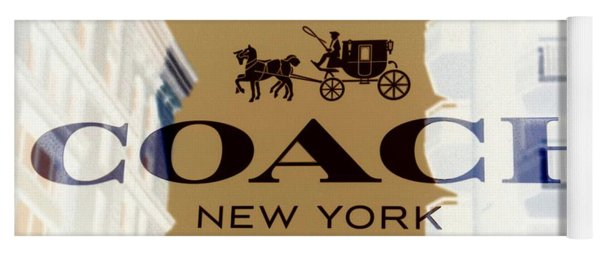 Yoga Mat featuring the photograph Coach New York Sign by Marianna Mills