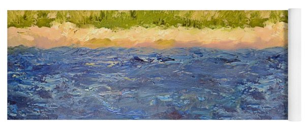 Yoga Mat featuring the painting Coastal Dunes - Square by Michelle Calkins