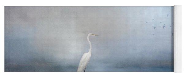 Coastal Egret Yoga Mat