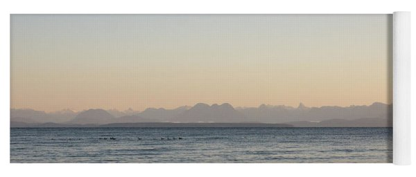 Coastal Mountains At Sunrise Yoga Mat