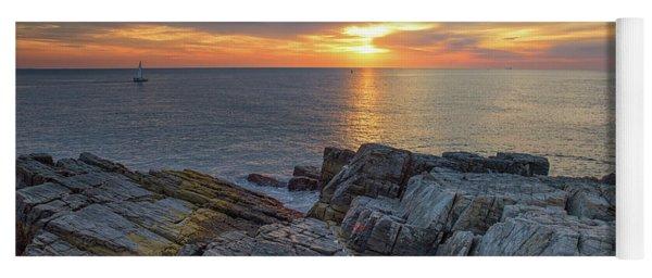 Coastal Sunrise On The Cliffs Yoga Mat