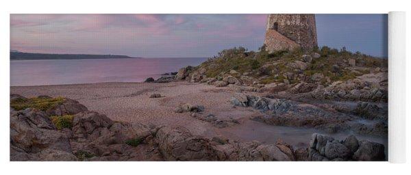 Coastal Tower At Sunset Yoga Mat