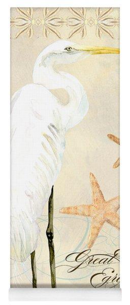 Coastal Waterways - Great White Egret Yoga Mat