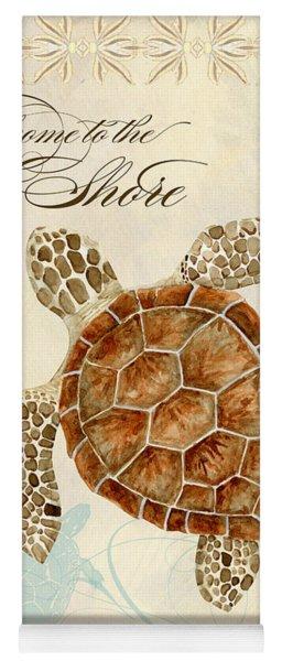 Coastal Waterways - Green Sea Turtle Yoga Mat