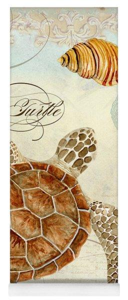 Coastal Waterways - Green Sea Turtle Rectangle 2 Yoga Mat