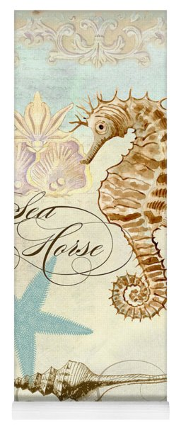 Coastal Waterways - Seahorse Rectangle 2 Yoga Mat