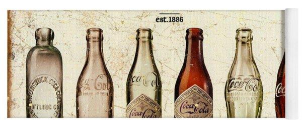 Coca-cola Bottle Evolution Vintage Sign Yoga Mat