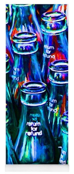 Coca-cola Coke Bottles - Return For Refund - Painterly - Blue Yoga Mat