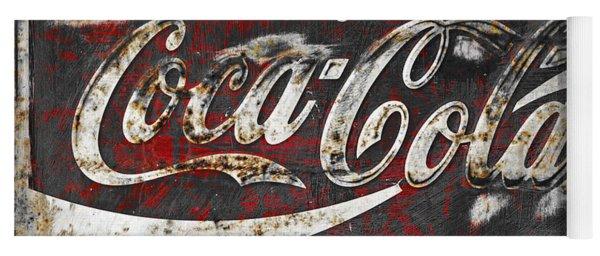 Coca Cola Grunge Sign Yoga Mat