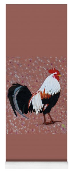 Yoga Mat featuring the painting Cock A Doodle Doo by Deborah Boyd