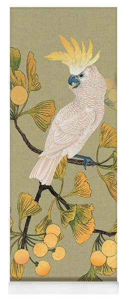 Cockatoo And Ginkgo Tree Yoga Mat