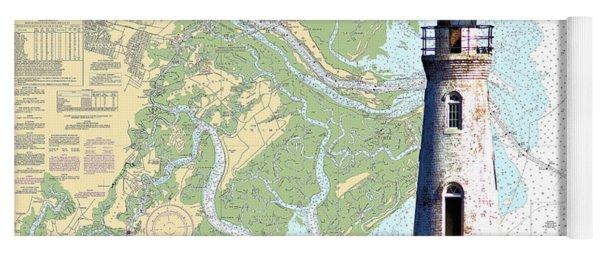 Cockspur On Navigation Chart Yoga Mat