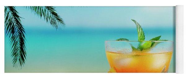 Cocktail On The Beach Yoga Mat