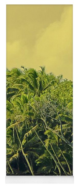 Coconut Palms Across Pohoiki Bay Yoga Mat