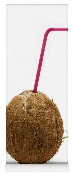Coconut With A Straw Yoga Mat