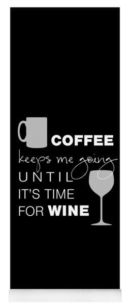 Coffee And Wine Yoga Mat