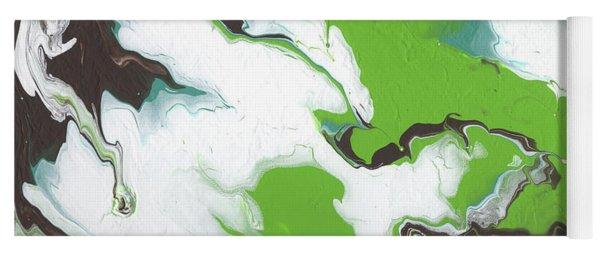 Coffee Bean 1- Abstract Art By Linda Woods Yoga Mat