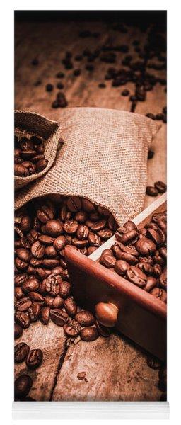 Coffee Bean Art Yoga Mat