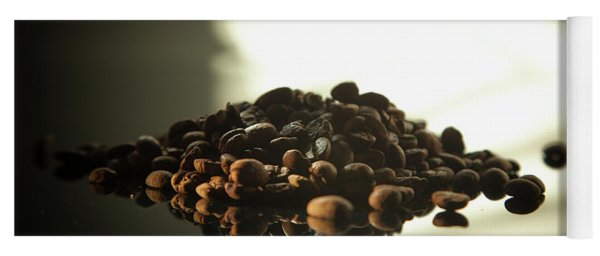Yoga Mat featuring the photograph Coffee Beans by Eric Christopher Jackson