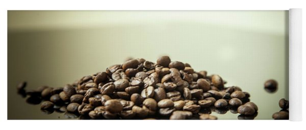 Yoga Mat featuring the photograph Coffee Beans, No.2 by Eric Christopher Jackson