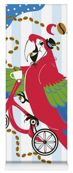 Coffee Parrot Yoga Mat