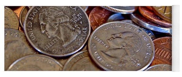 Coins In A Heap Yoga Mat