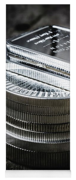 Coins Of Silver Stacking Yoga Mat