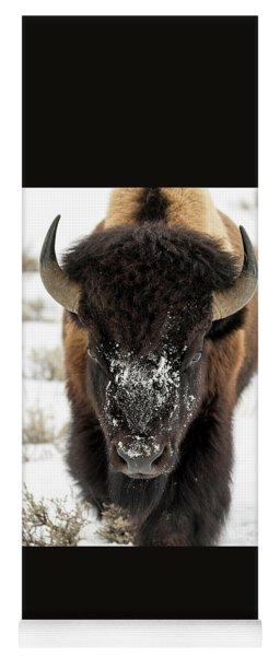 Cold Bison Stare Yoga Mat