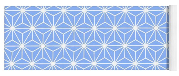 Cold Blue Geometric Flowers And Florals Isosceles Triangle Yoga Mat