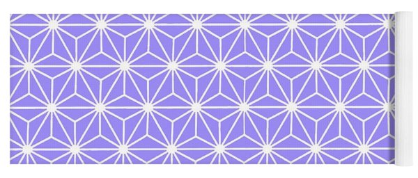 Cold Lilac Geometric Flowers And Florals Isosceles Triangle Yoga Mat