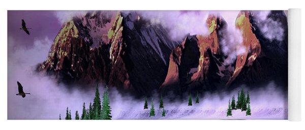Cold Mountain Morning Yoga Mat