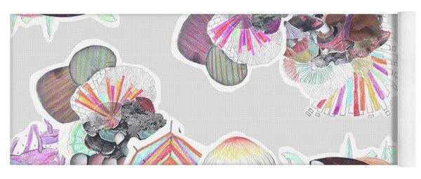 Collage Mushroom Yoga Mat