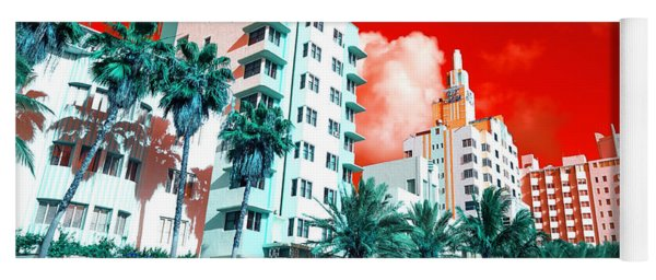Collins Avenue Pop Art South Beach Yoga Mat