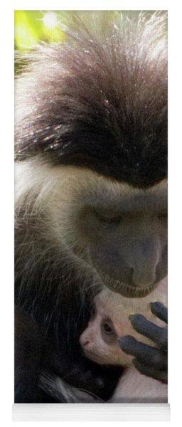 Colobus Monkey And Child Yoga Mat