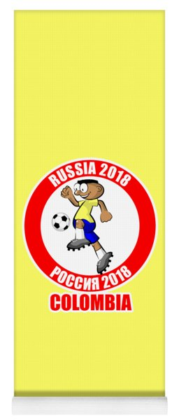 Colombia In The Soccer World Cup Russia 2018 Yoga Mat