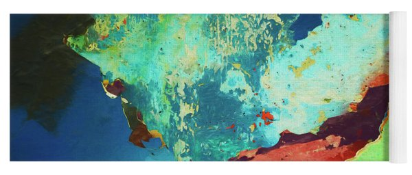Color Abstraction Lxxvi Yoga Mat